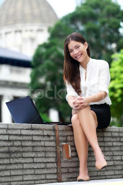 Stok fotoğraf: Iş · kadını · dizüstü · bilgisayar · Hong · Kong · işkadını · bilgisayar · Internet