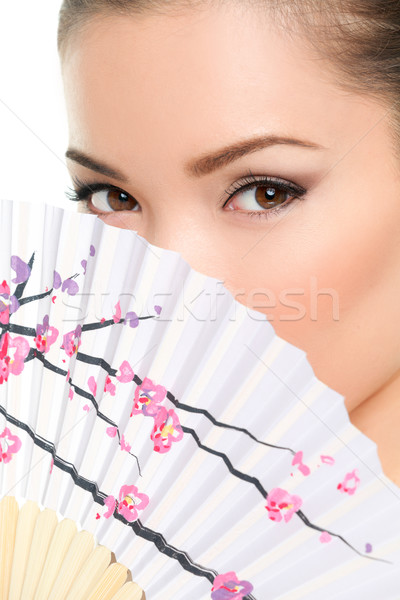 Asian beauty - seductive eyes woman Stock photo © Maridav
