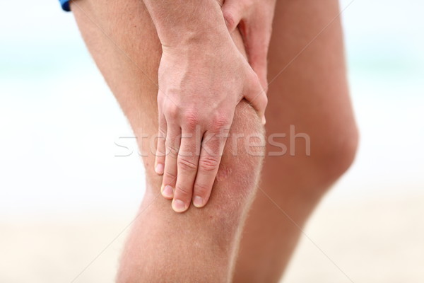 Diz ağrı spor çalışma hasar erkek Stok fotoğraf © Maridav