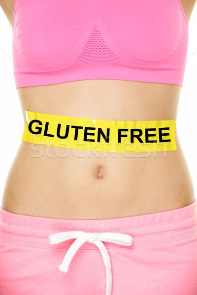 Glutenvrij gezondheid ziekte spijsvertering tekst geschreven Stockfoto © Maridav