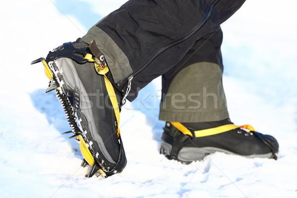 Scarpe piedi ghiaccio neve outdoor inverno Foto d'archivio © Maridav