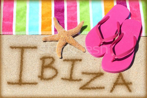 Ibiza beach travel concept Stock photo © Maridav