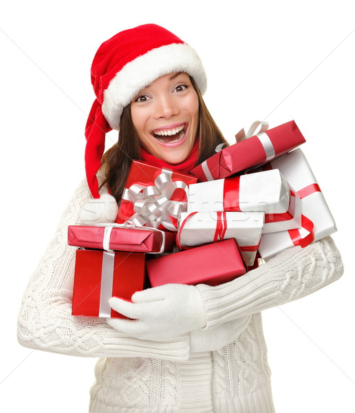 Stock photo: Christmas Presents woman