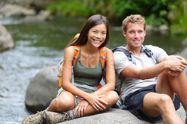 Zdjęcia stock: Ludzi · turystyka · portret · rzeki