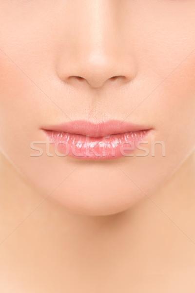 Mouth and nose closeup - beauty face woman Stock photo © Maridav