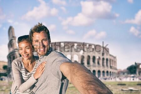 Romantic couple tourists in Rome Stock photo © Maridav