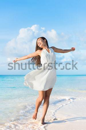 Travel beach vacation holidays bikini girl happy Stock photo © Maridav