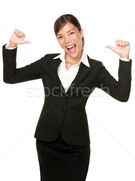 cheerful confident young business woman Stock photo © Maridav