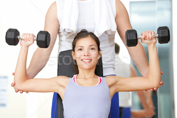 Gym fitness people Stock photo © Maridav