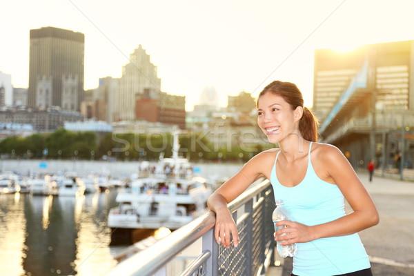 Woman city runner workout Stock photo © Maridav