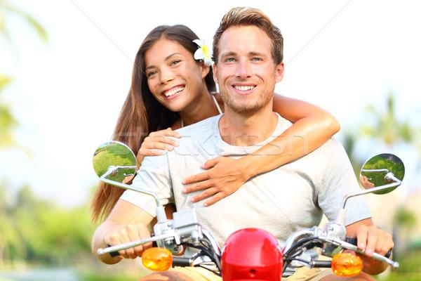 Zdjęcia stock: Szczęśliwy · miłości · jazdy · wraz