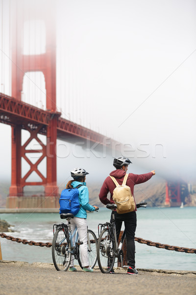 Golden Gate Bridge casal turismo San Francisco EUA Foto stock © Maridav