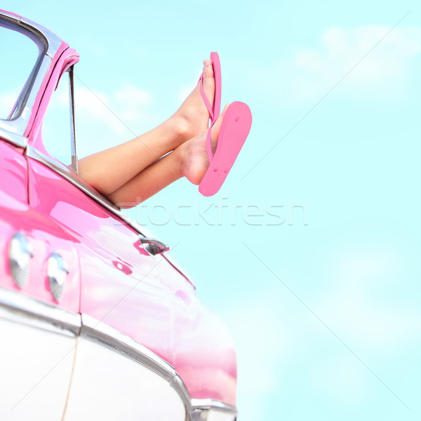 Photo stock: été · amusement · jambes · rose
