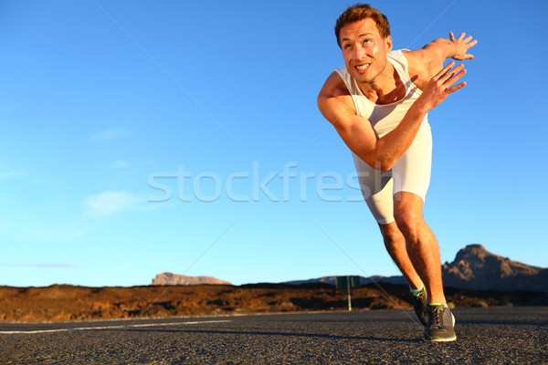 Sprinting man running Stock photo © Maridav