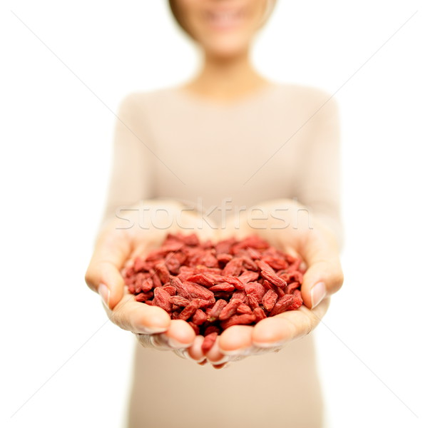 Goji berries - dried Goji berry heap / wolfberries Stock photo © Maridav