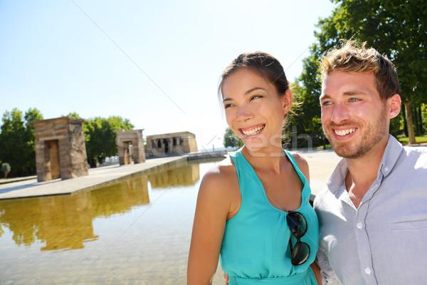 Madrid tourist couple by Temple of Debod Stock photo © Maridav