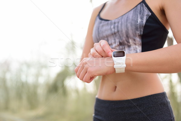 Smart watch for sport with heart rate monitor Stock photo © Maridav