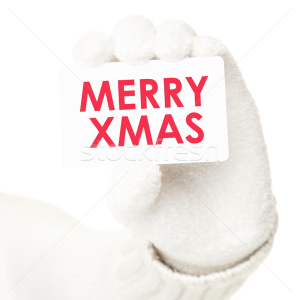 Stock photo: Merry Christmas sign / business card