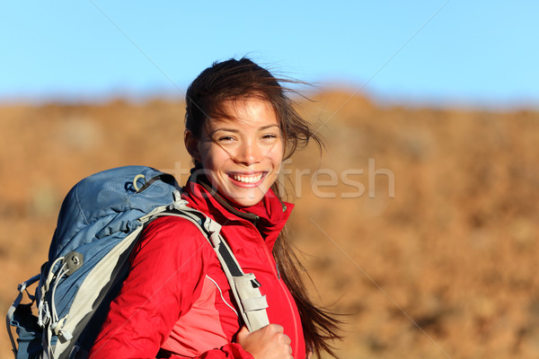 Healthy lifestyle woman smiling outside Stock photo © Maridav