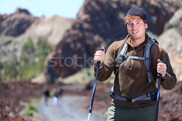 Adventure hiking man Stock photo © Maridav