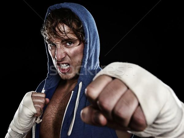 Boxer - street fighter Stock photo © Maridav