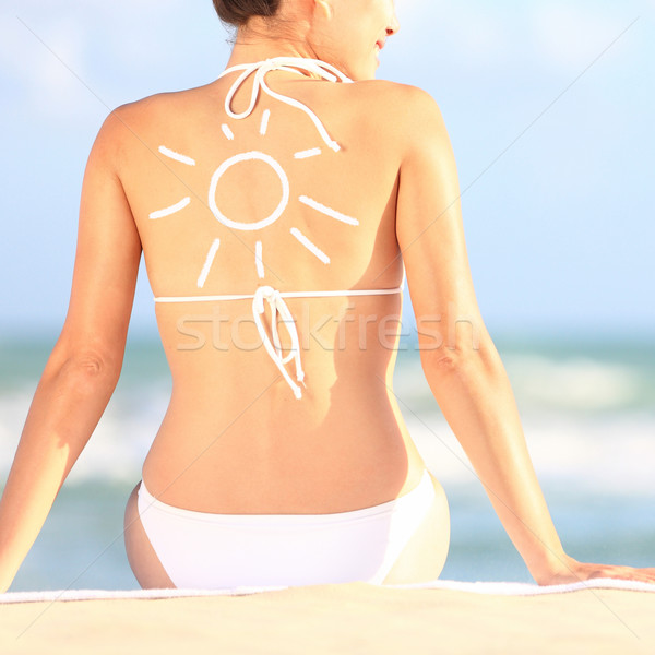 Sunscreen / sun tan lotion Stock photo © Maridav