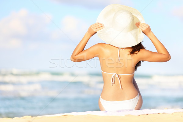 Summer vacation woman Stock photo © Maridav