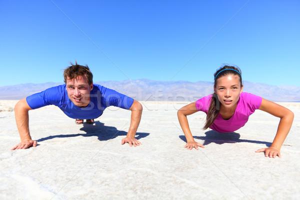 Sport - young fitness couple Stock photo © Maridav