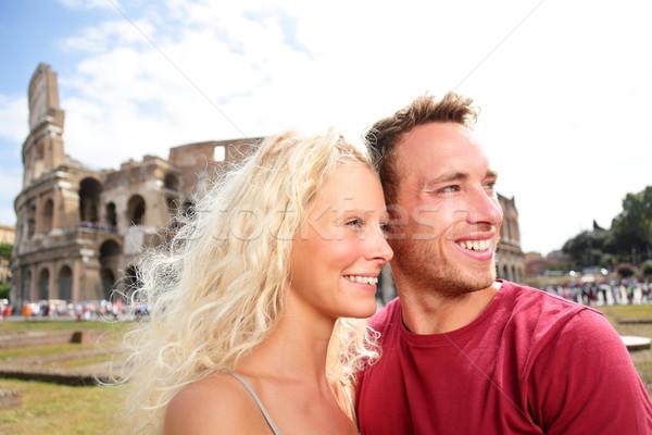 Zdjęcia stock: Podróży · para · miłości · Rzym