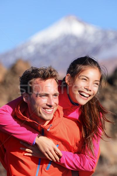 Mutlu çift omzunda aktif yaşam tarzı Stok fotoğraf © Maridav