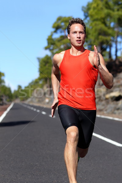 Running man sprinting Stock photo © Maridav
