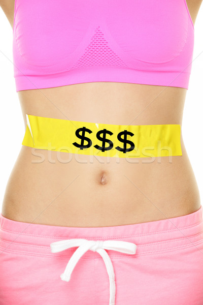 Expensive diet - money and nutrition concept Stock photo © Maridav