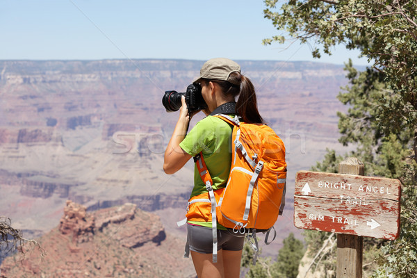 Hiking photographer taking pictures, Grand Canyon Stock photo © Maridav