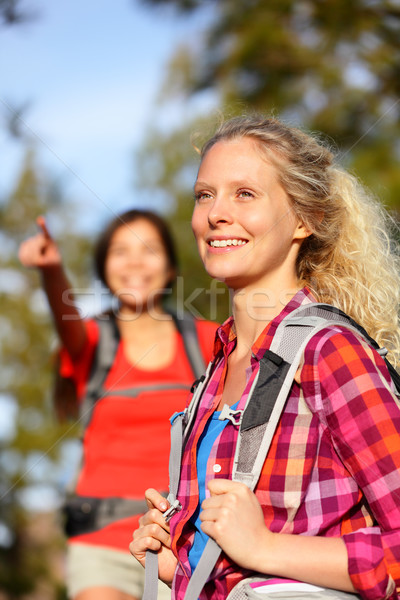 Woman hiker Stock photo © Maridav