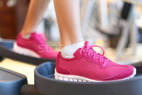 Fitness moonwalker treadmill equipment Stock photo © Maridav