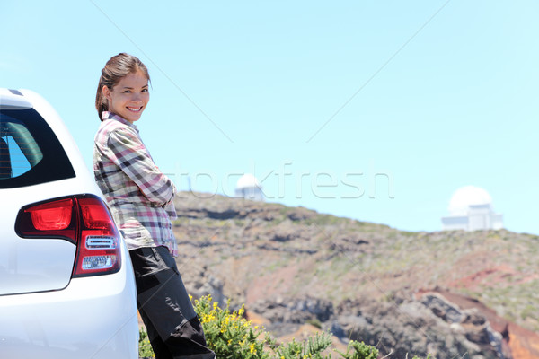 Traveling in car on La Palma Stock photo © Maridav