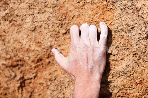 Climbing hand closeup Stock photo © Maridav