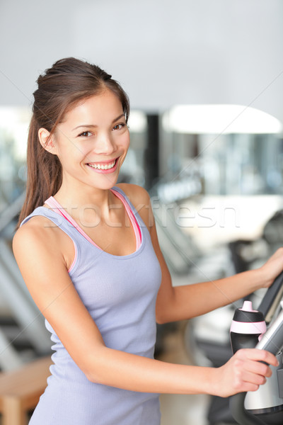 Fitness woman in gym Stock photo © Maridav