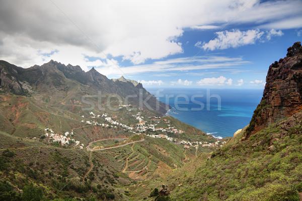 Tenerife dorp schilderachtig berg Stockfoto © Maridav