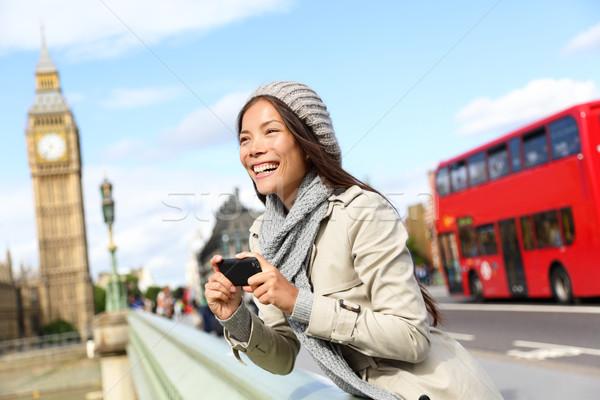 Londra turist kadın gezi resimleri Stok fotoğraf © Maridav