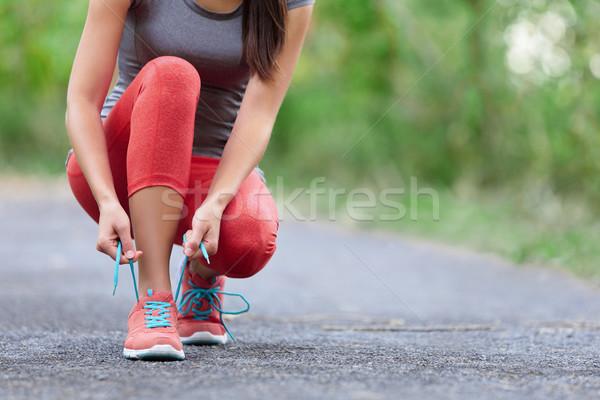 кроссовки женщину обуви женщины спорт Сток-фото © Maridav