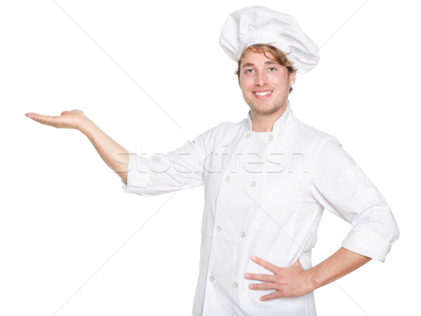 Chef, Cook or baker showing isolated Stock photo © Maridav