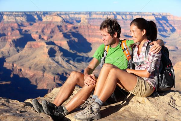 Escursioni Coppia ritratto escursionisti Grand Canyon Foto d'archivio © Maridav