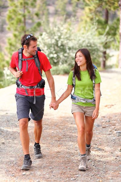 Couple hiking Stock photo © Maridav