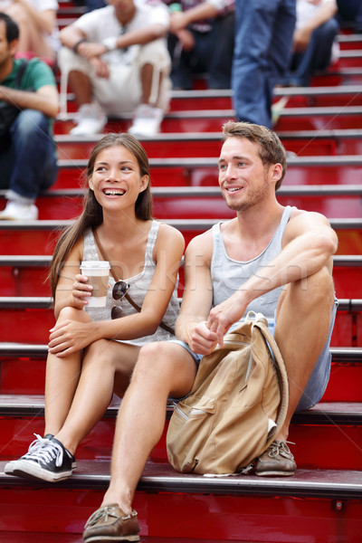 Randizás turista pár New York New York Manhattan Stock fotó © Maridav