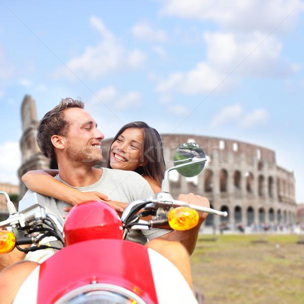 Сток-фото: Рим · пару · Колизей · Италия · романтические