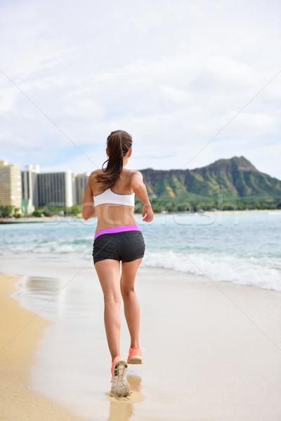 Fut testmozgás női futó nő jogging Stock fotó © Maridav