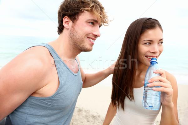 Foto stock: Playa · entrenamiento · ejercicio