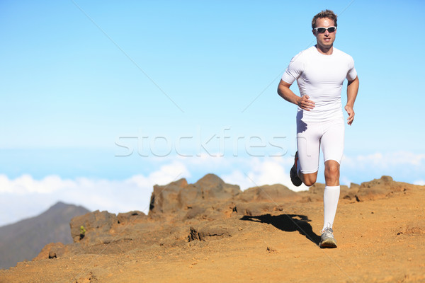 Runner man trail running Stock photo © Maridav