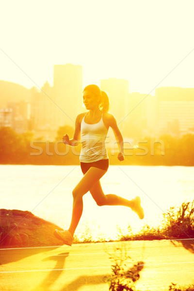 Stock photo: Runners - woman running